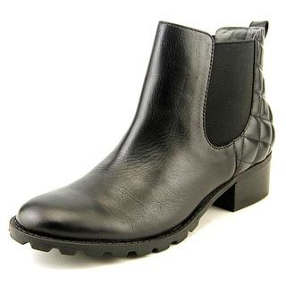 Adrienne Vittadini Leni   Round Toe Leather  Boot