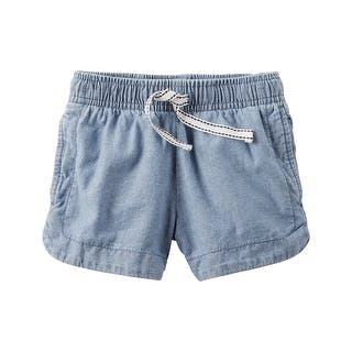Carter's Baby Girls' Chambray Pull-On Shorts, 24 Months|https://ak1.ostkcdn.com/images/products/is/images/direct/1b61b8d0a1d48e695582800e495b99fd6a890a61/Carter%27s-Baby-Girls%27-Chambray-Pull-On-Shorts%2C-24-Months.jpg?impolicy=medium