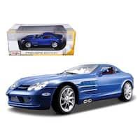Mercedes Mclaren SLR Blue 1/18 Diecast Model Car by Maisto