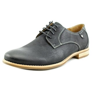 Steve Madden Capturr Men Round Toe Leather Black Oxford