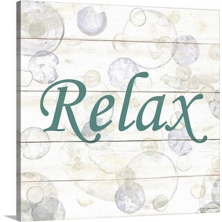 """Relax Bubbles"" Canvas Wall Art"