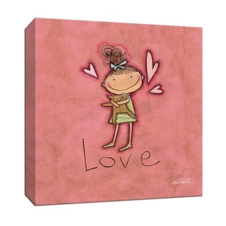 "PTM Images 9-152105  PTM Canvas Collection 12"" x 12"" - ""Love"" Giclee Children Art Print on Canvas"