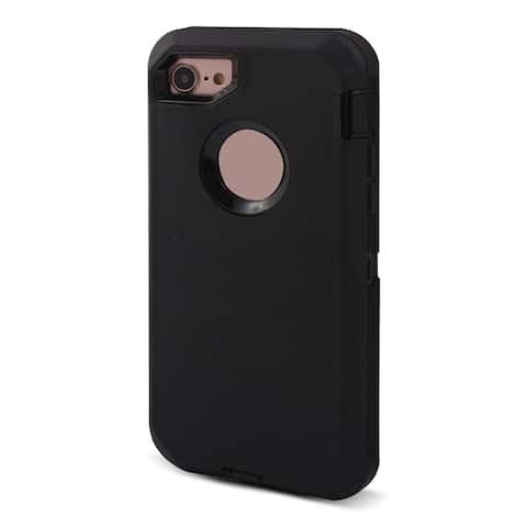 TPU 360 Degree Rotary Belt Clip 3 Layer Shell Cover Case Black for iPhone 7