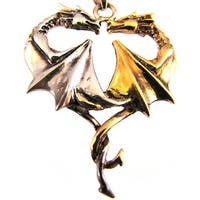 `Dragon Heart` Sterling Silver Pendant / Necklace Love