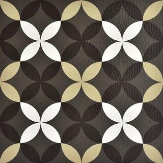 Brewster FP2479  Clover 10 Square Foot Peel and Stick Vinyl Floor Tiles - Gray