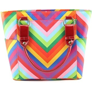 J. Renee Chevron Multi Women Synthetic Multi Color Tote - Multi-Color