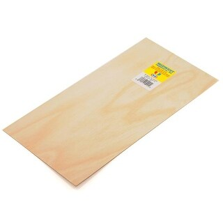 Midwest Products 0.8 mm x 6 in. x 12 in. Birch Plywood - 6 Pieces
