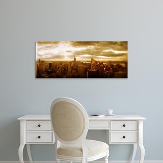 Easy Art Prints Panoramic Images's 'Buildings in a city, Manhattan, New York City, New York State, USA' Canvas Art