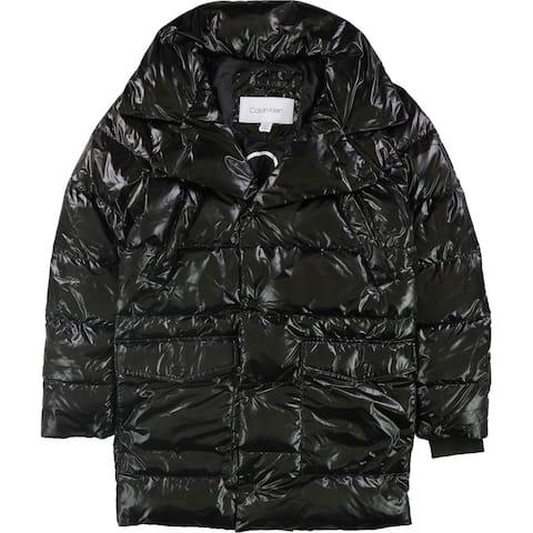 Calvin Klein Mens Oversized Puffer Jacket, Black, X-Small