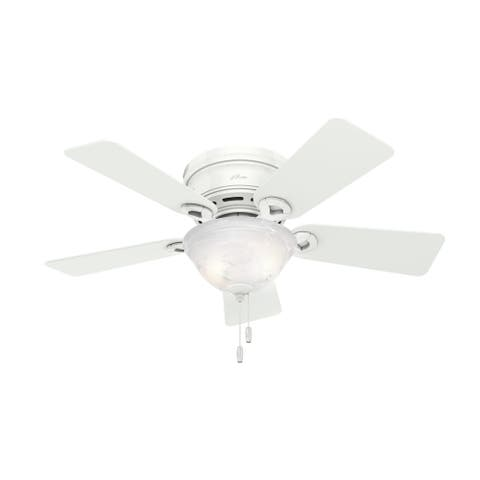 Hunter Fan Conroy 42-inch White Low Profile with Light