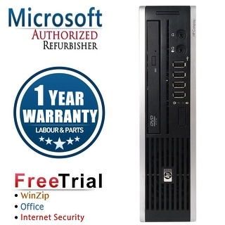 Refurbished HP Compaq 8200 Elite USFF Intel Core I5 2400S 2.5G 4G DDR3 160G DVD Win 7 Pro 64 1 Year Warranty - Black