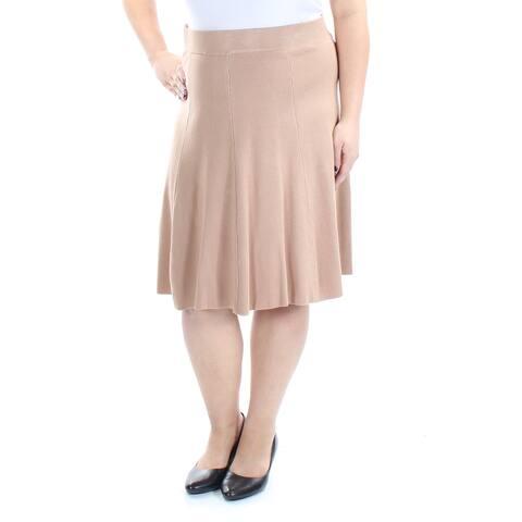 ALFANI Womens Beige 0 0 Knee Length A-Line Skirt Size: XL