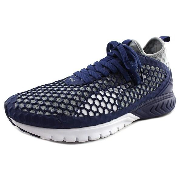 Puma Ignite Dual Netfit Men Round Toe Canvas Blue Sneakers