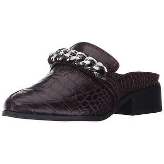 Steven by Steve Madden Womens Swanki Leather Almond Toe Loafers