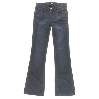 Paige Womens Skyline Boot Cut Jeans Mid Rise Whisker Wash - 28