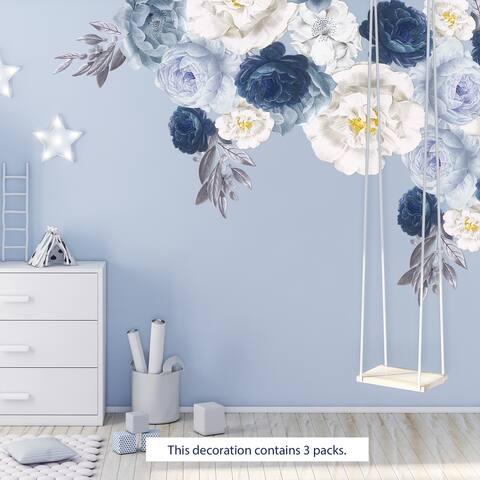 Walplus Elegant Oversized Peonies Flowers Floral Wall Stickers DIY Art