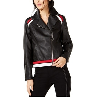 Link to I-N-C Womens Faux Leather Jacket, black, Medium Similar Items in Women's Outerwear
