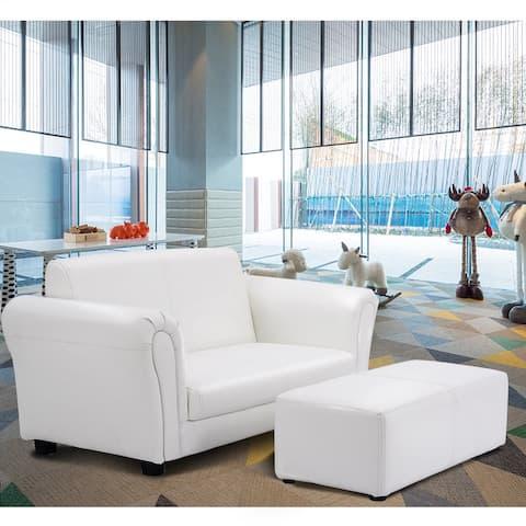 Costway White Kids Sofa Armrest Chair Couch Lounge Children Birthday