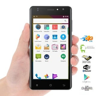 Indigi Ultra Slim 4G LTE SmartPhone Android 6.0 Phablet 5in 2.5D Curved Screen UNLOCKED - Black