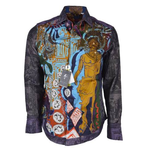 Robert Graham THE CONYAC Embroidered Roman Print Limited Edition Shirt