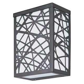 ET2 E21333 Inca 2 Light 7.5'' Wall Sconce with Frosted Glass Shade