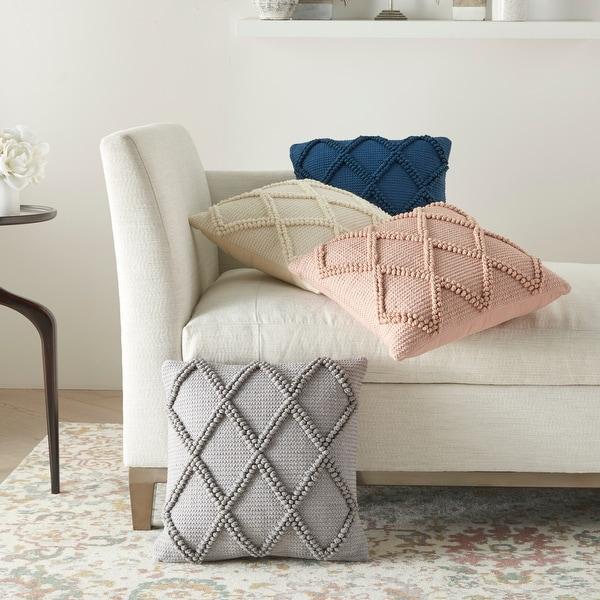 "Mina Victory Life Styles Boho Geometric Textured Throw Pillow , ( 18""X18"" ). Opens flyout."