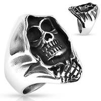 Grim Reaper Stainless Steel Ring (Sold Ind.)