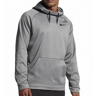 Nike NEW Heather Gray Mens Size XL Logo Drawstring Hooded Sweater