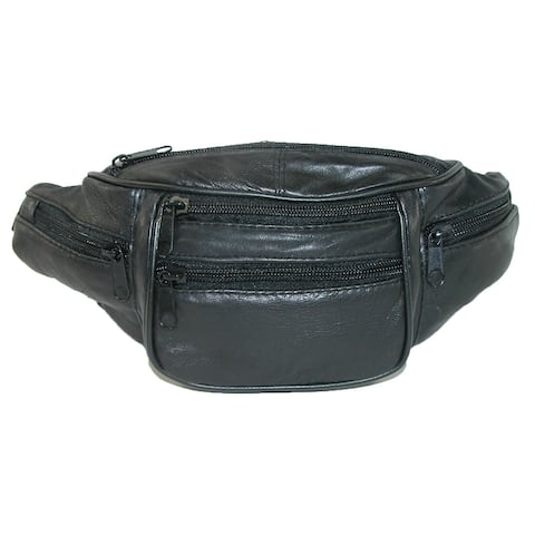 CTM® Leather 6 Pocket Waist Pack - one size