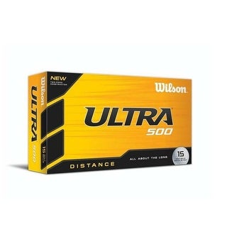 Wilson Ultra 500 Distance Golf Balls, White 15 Pack WGWR58100