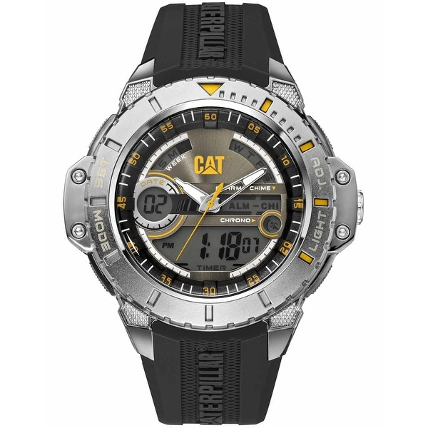 Caterpillar Anadigit Mens Silikone Strap Watch