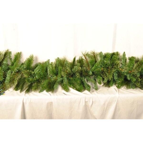 Christmas at Winterland WL-GARBM-09 9 Foot Blended Pine Garland - green - N/A
