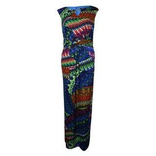 Ellen Tracy Women's Twist Beaded Keyhole Long Jersey Dress - 10