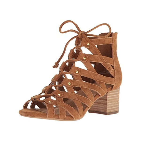 Aerosoles Womens Middle Ground Gladiator Sandals Suede Caged
