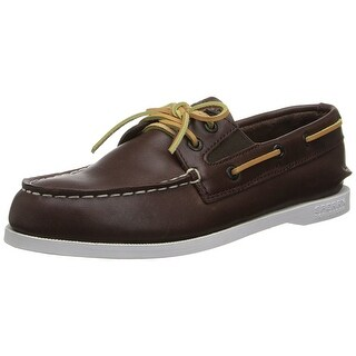 Sperry Top Sider Leather Original Slip On Boat Shoe Brown