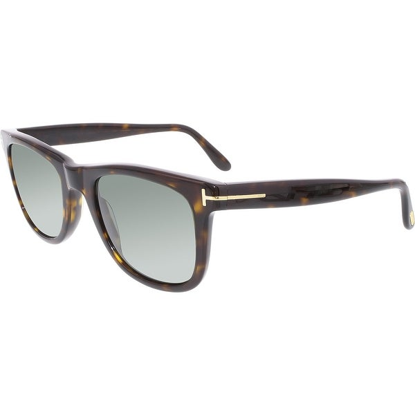cde9fc8c355 Shop Tom Ford Men s Polarized Leo FT0336-56R-52 Tortoiseshell Square ...