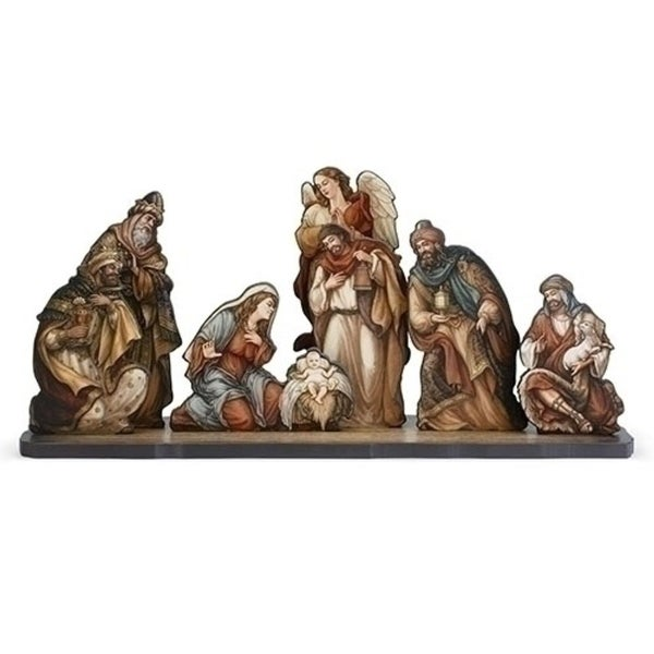 "24"" 8-Piece Nativity Die Cut Figures with Base Christmas Decoration"