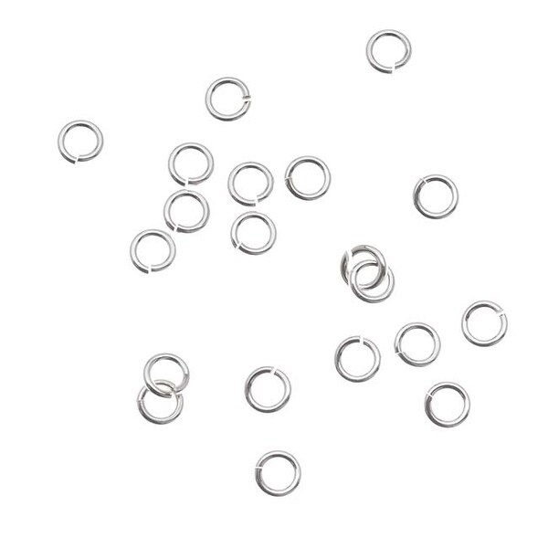 Silver Filled Anti Tarnish 4mm Open Jump Rings 20 Gauge (20)