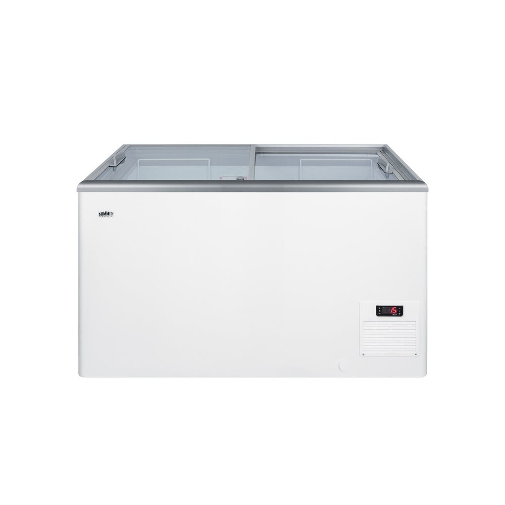 "Summit  NOVA35  Commercial 43"" Wide 11.7 Cu. Ft. Capacity Food & Beverage Freezer Merchandiser - White (White)"