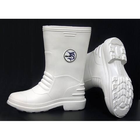 Marlin Male Lightweight Deck Boots, White, 13