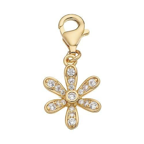 Julieta Jewelry Flower CZ Clip-On Charm