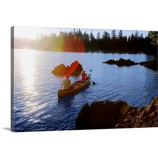 """""""People canoeing"""" Canvas Wall Art"""