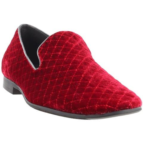 Giorgio Brutini Chatwal Plain Toe Slip-On Mens Dress Shoes - Red
