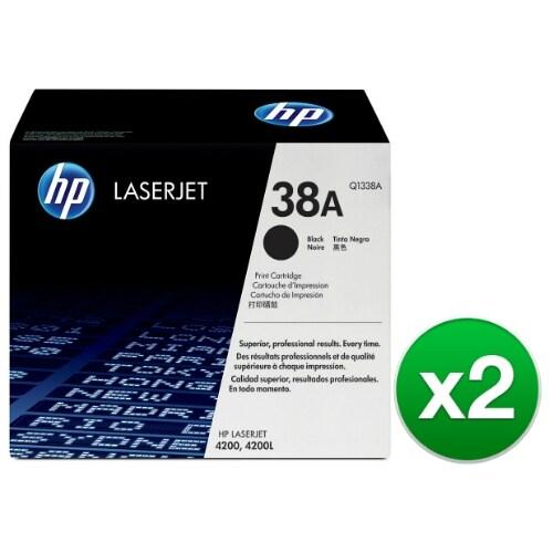 HP 38A Black Original LaserJet Toner Cartridge (Q1338A)(2-Pack)