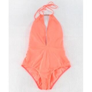 Ted Baker NEW Coral Orange Women's Size 2 UK 0 One-Piece Swimwear