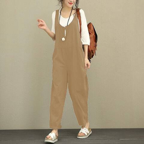 Korean New Bib Pants Plus Fat Plus Size Loose Casual Pants