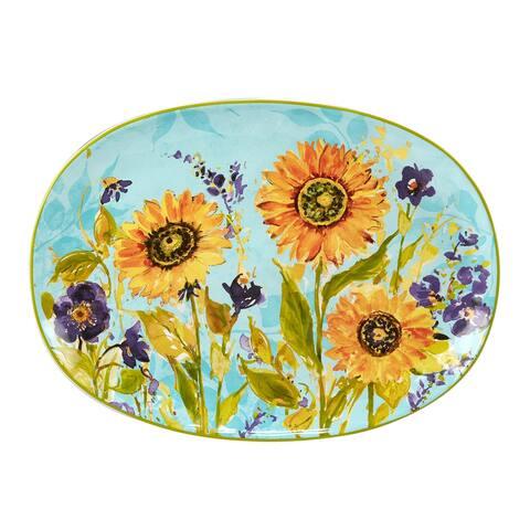 Certified International Sun Garden Oval Platter