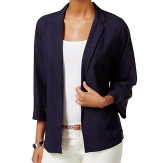 Tommy Hilfiger NEW Solid Navy Blue Women's Size 10 Open Front Jacket