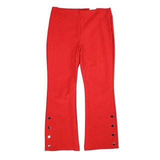 INC Women's Pants Red Size 6 Dress Bootleg Mid-Rise Hardware Stretch