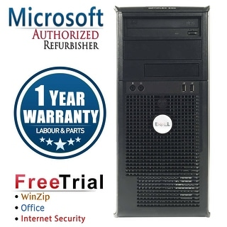Refurbished Dell OptiPlex 330 Tower DC E2200 2.2G 2G DDR2 80G DVD Win 7 Home 64 Bits 1 Year Warranty - Silver